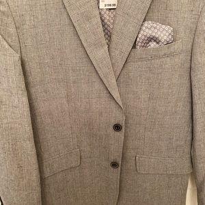 NWT Men's linen and cotton blend blazer coat